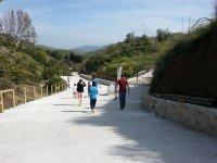 沿着维尼埃拉(Viñuela)的道路徒步