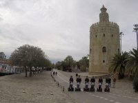 Visiting the gold tower on segway