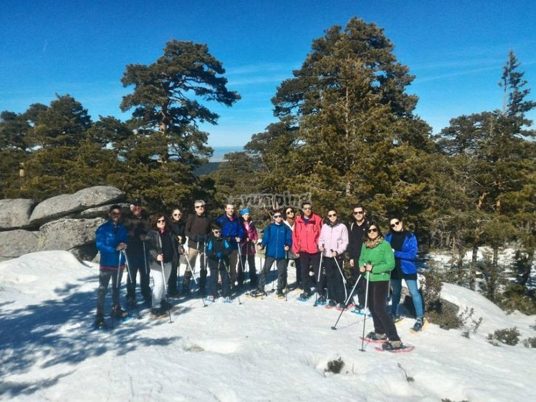 Experience in group through the snow