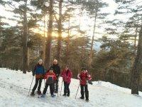 Ruta nocturna para raquetas de nieve en Cercedilla