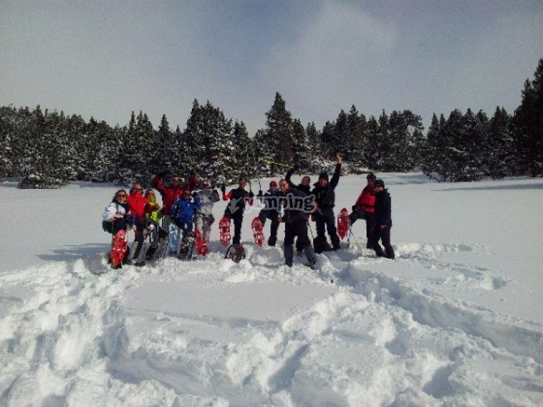 raquetas de nieve gredos