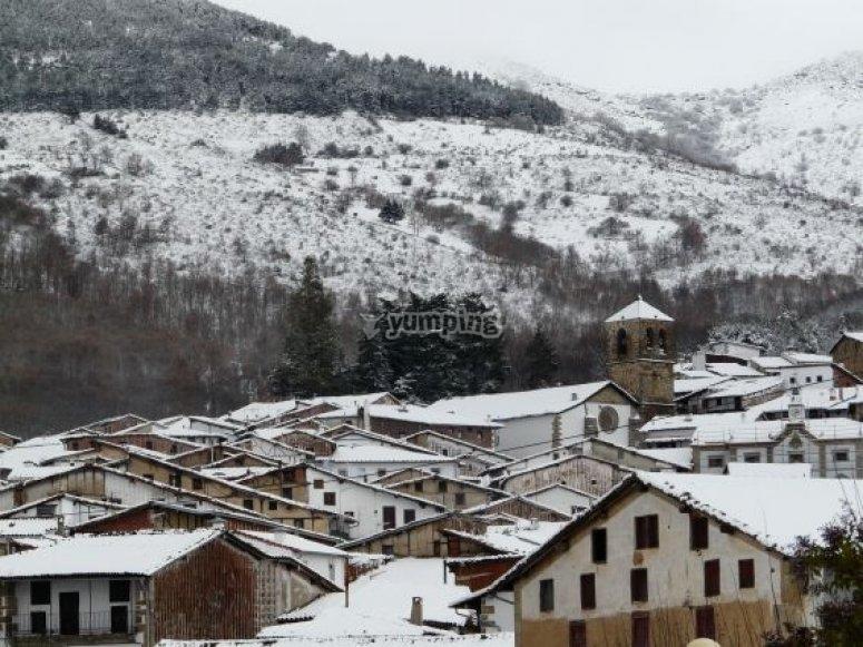 rutas de raquetas ne nieve por Candelario