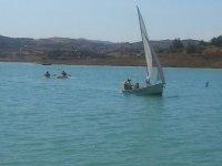 儿童帆船在Viñuela