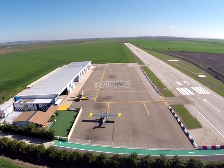 Our airfield in Sevilla