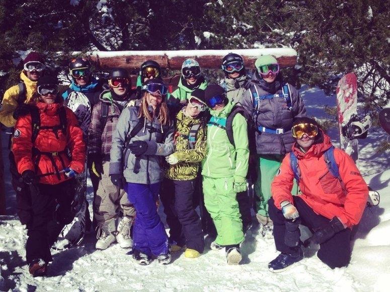 Participantes de snowboard