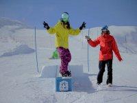 Ejercicio de snowboard
