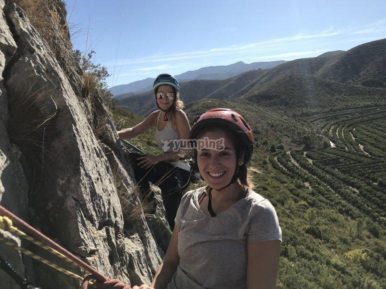 Durante la escalada