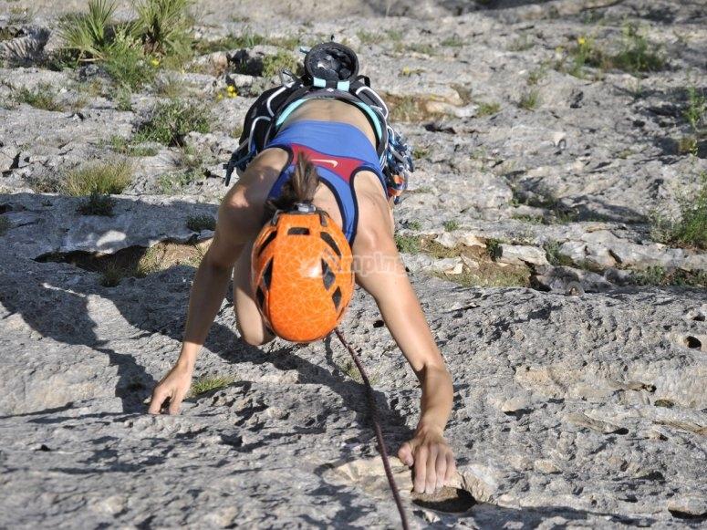 Prueba de escalada