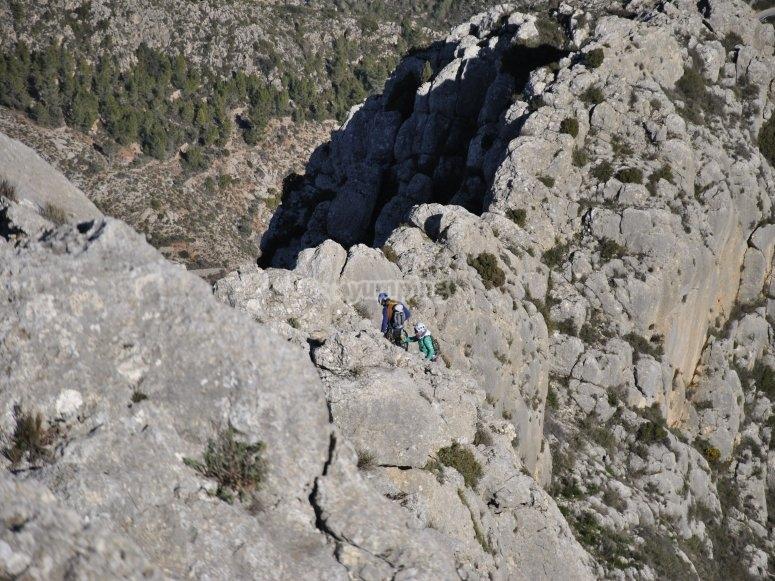 Roca natural cresta
