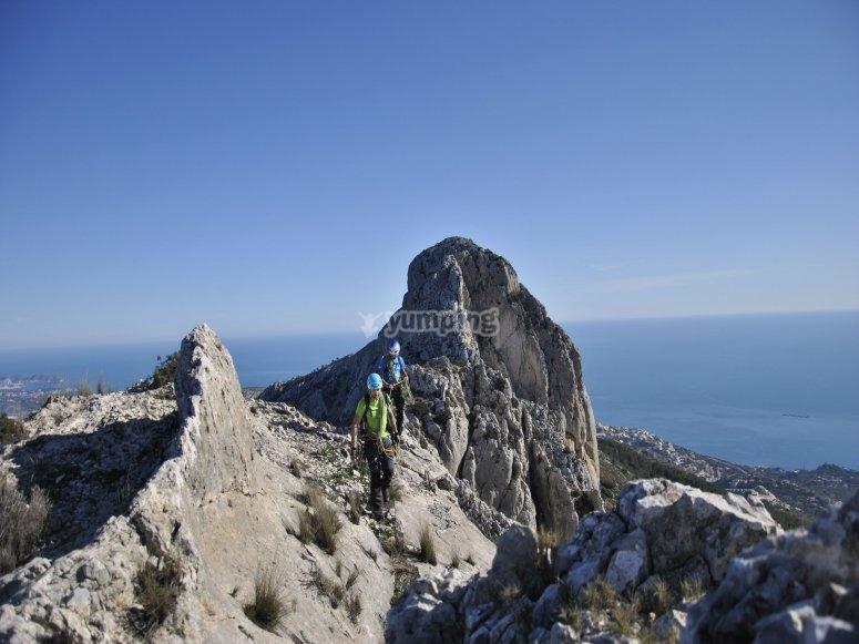 Una escalada espectacular