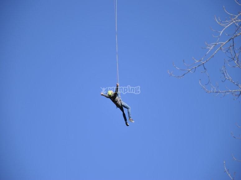 Colagando tras el salto