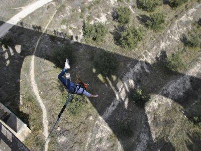 Puenting en Alicante 2 saltos con vídeo 50 metros