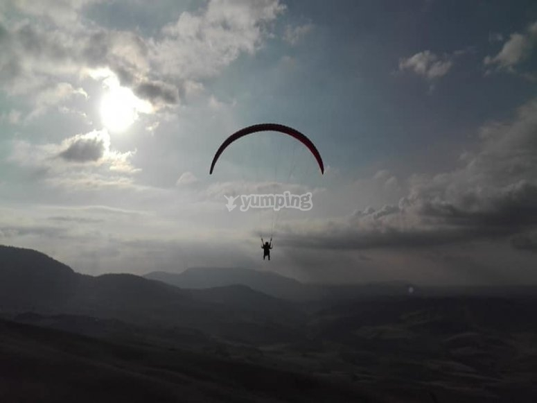 Volar en parapente por Málaga