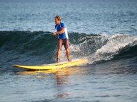 Disfrutando del paddle surf