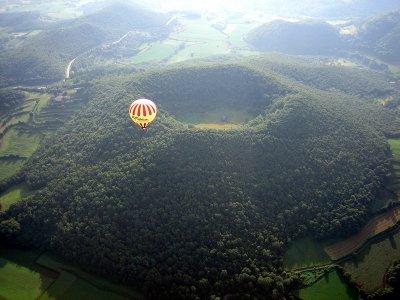 气球拉Garrotxa火山早餐和CD照片