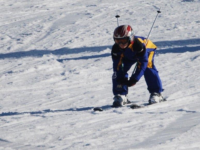 disfrutando del ski en jaca