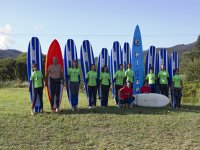 Team of surfers
