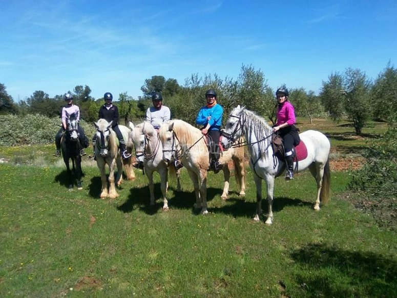 Grupo de excursion a caballo