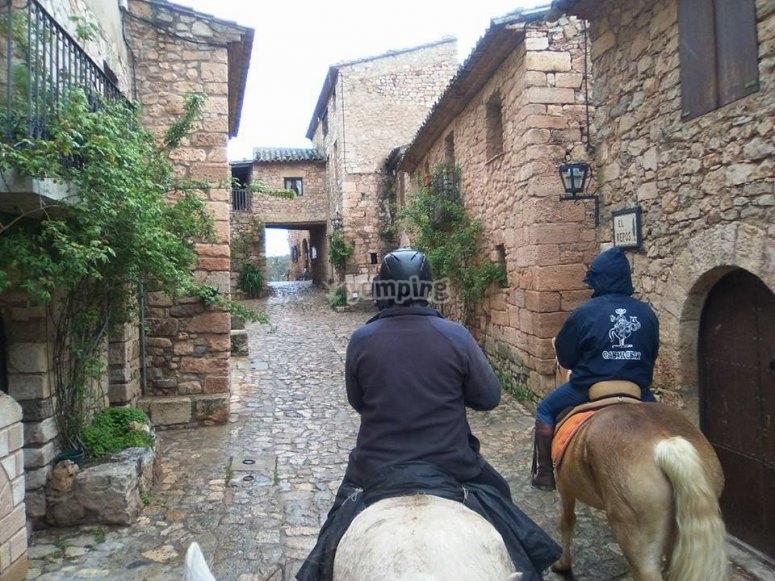 Excursion a caballo Poblet