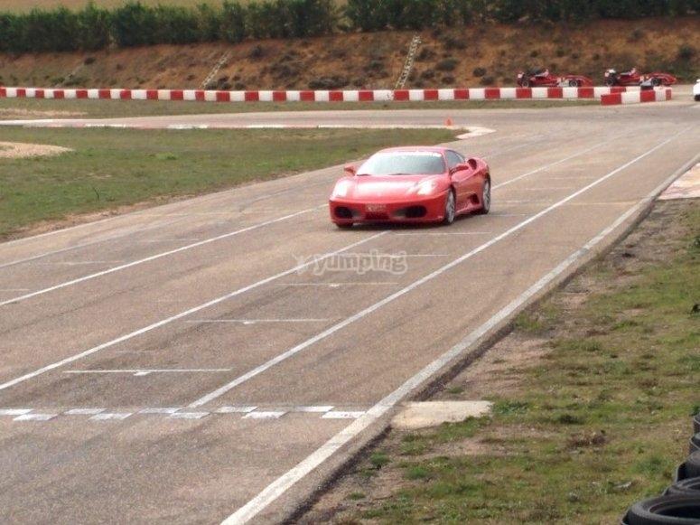 Ferrari en el circuito