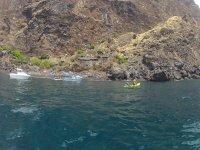kayak in nature