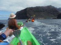 kayaks  empujados