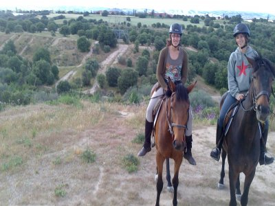 Horse ride in Collserola and riding lesson