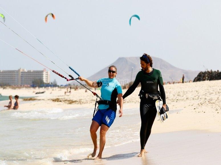 Volando la cometa de kite
