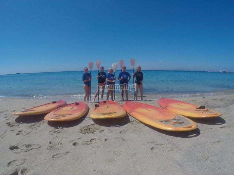Antes de comenzar la ruta de paddle surf