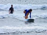 Surf lessons in the camp