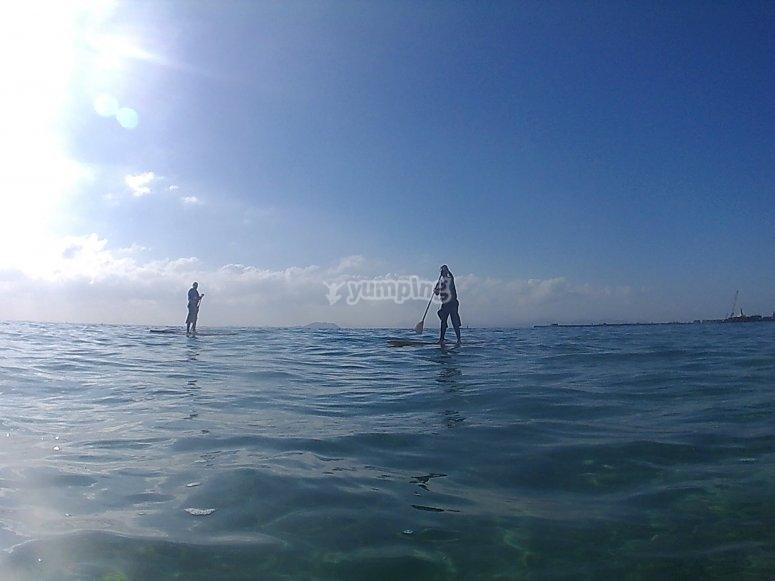 Excursión de SUP desde Playa Blanca