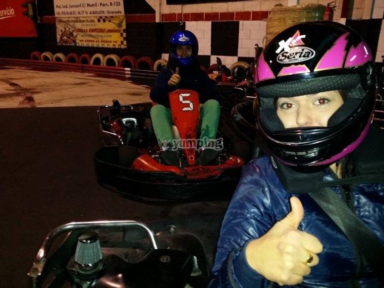 Tanda de karting en Granada