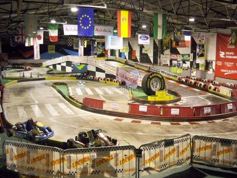 Circuito indoor de karting