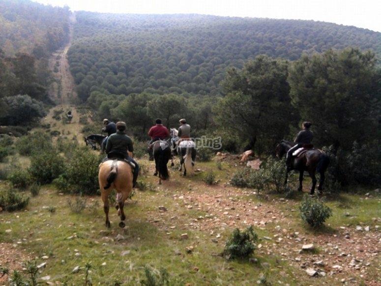 Montando a caballo en Badajoz