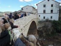 viendo el puente de beceite