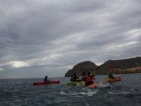 Navegando con kayak