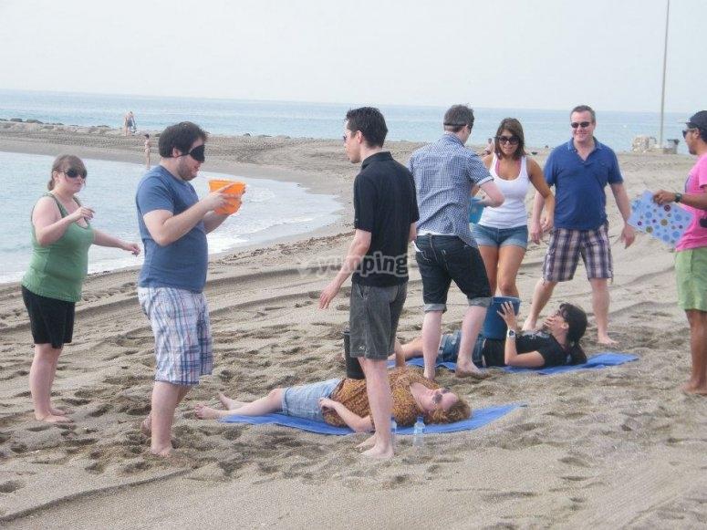 Prueba de las mini olimpiadas en Marbella