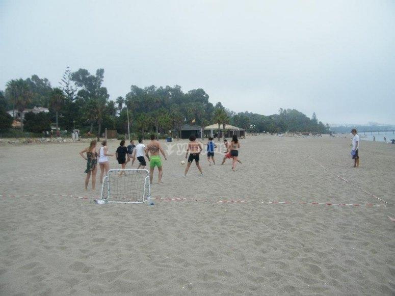 Pruebas en la arena en Marbella