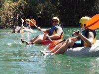 Rosco-Rafting con los companeros de trabajo
