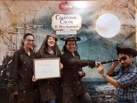 Group of friends enjoying the escape room