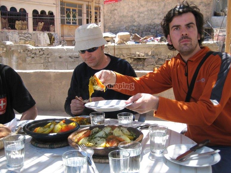 Comiendo en Marruecos