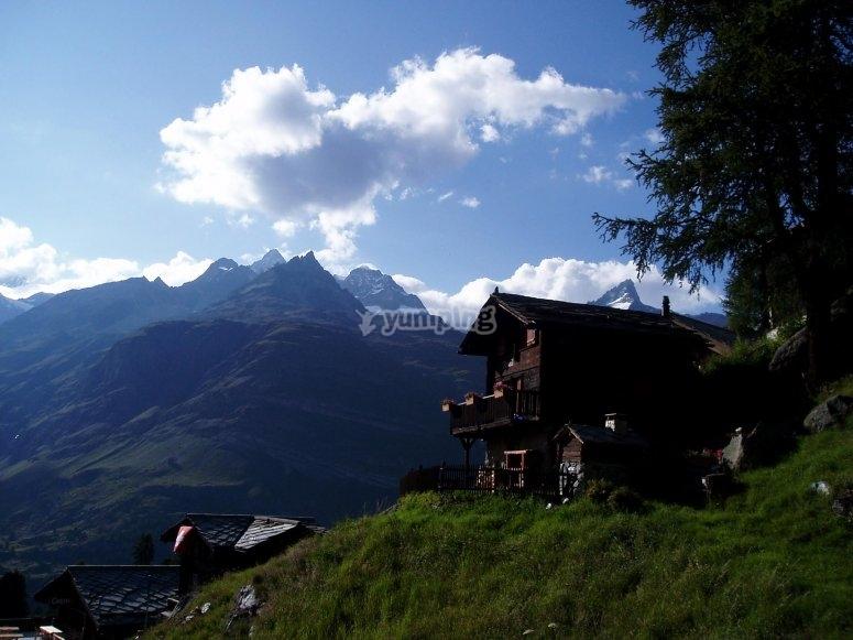 房屋阿尔卑斯山