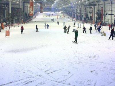 Esquiar en Xanadú y trineo para niños