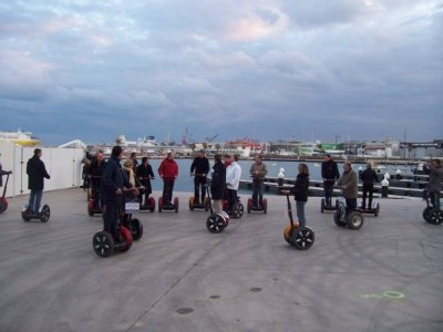 Segway route through the seaport of Valencia