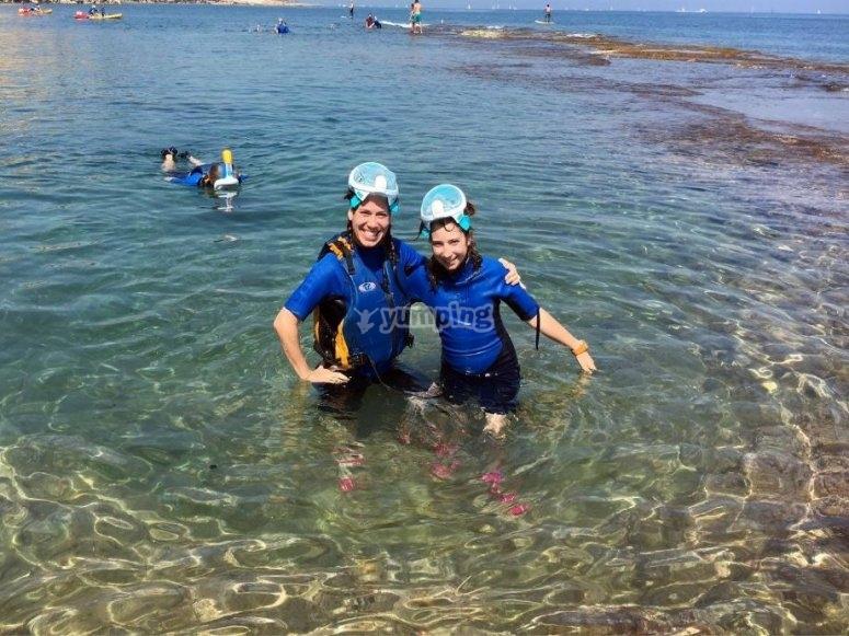 Snorkel junto a Cova Tallada