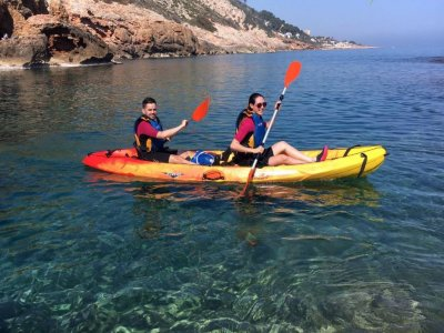 Kayaking in Dénia, with snorkel Caving and Picnic