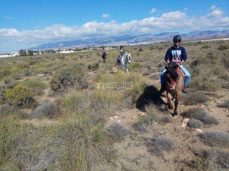 Paseo a caballo en Almeria