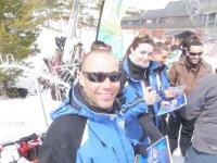 En la estacion de esqui