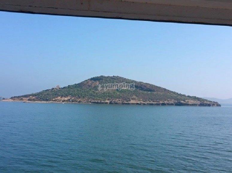 沿着岛屿航行
