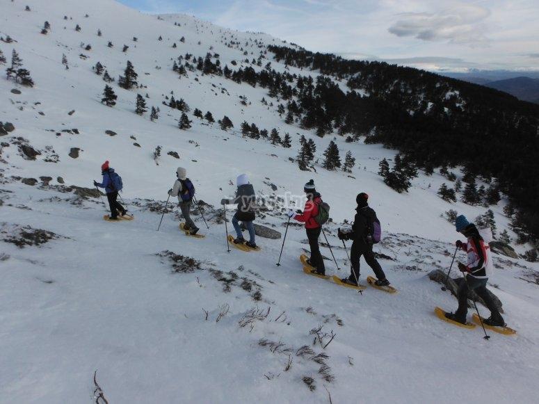 Snowshoes towards Peñalara